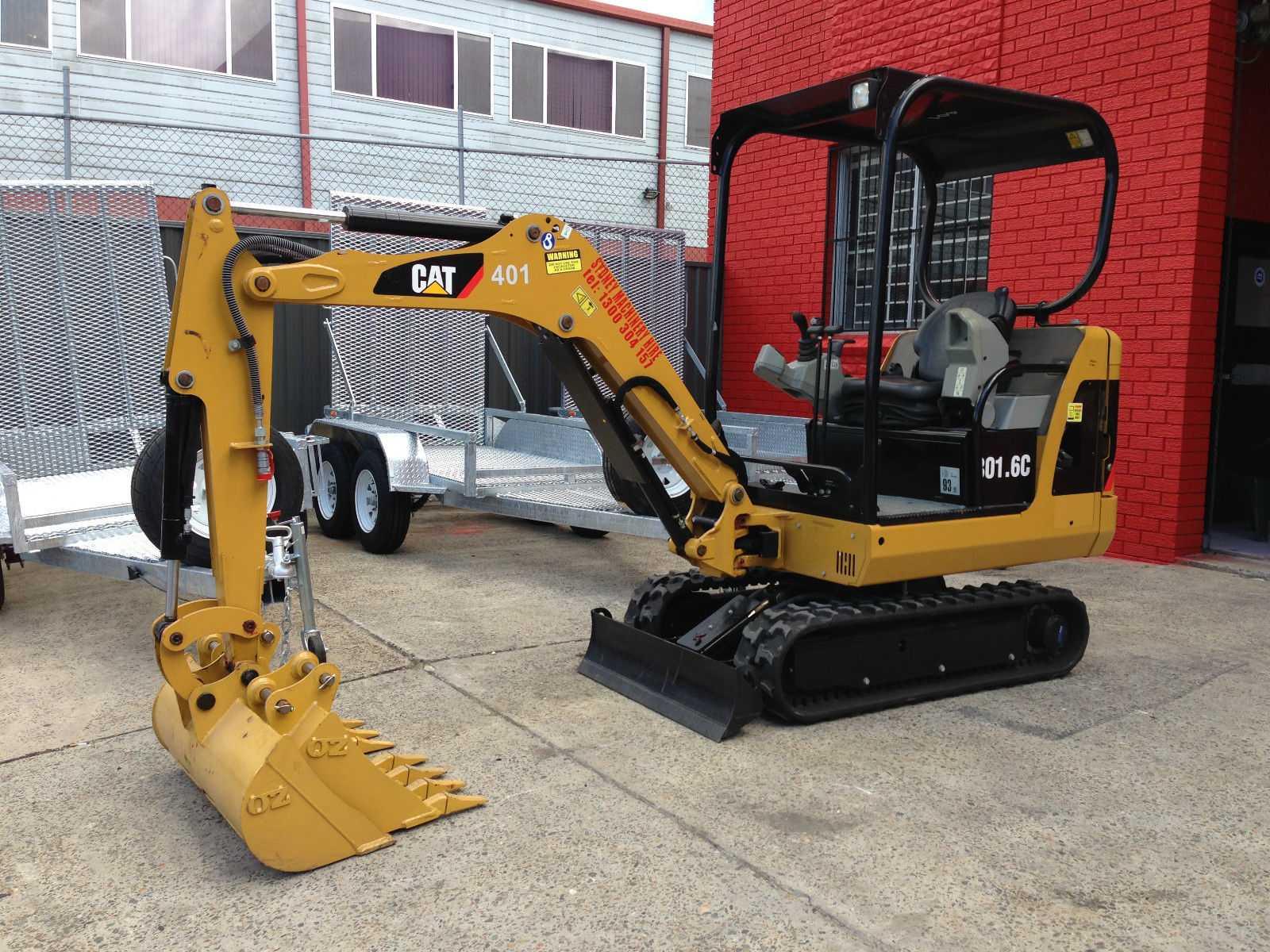 Hire 1.6 tonne tight access mini excavator + 3 buckets & trailer