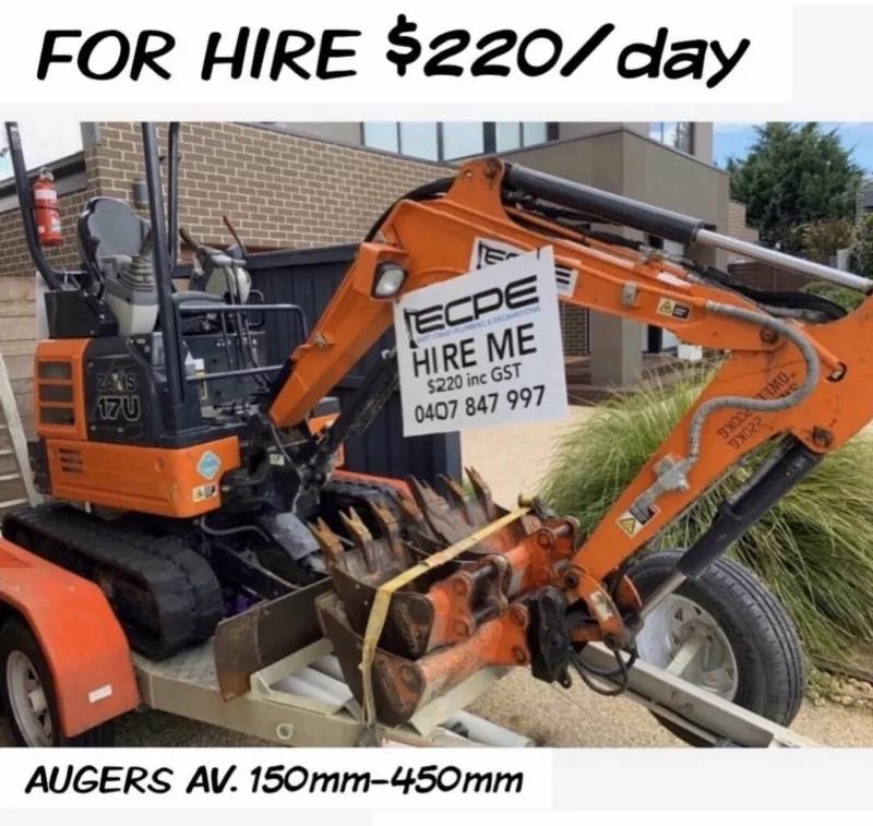 Hire Hitachi 1.7T excavator