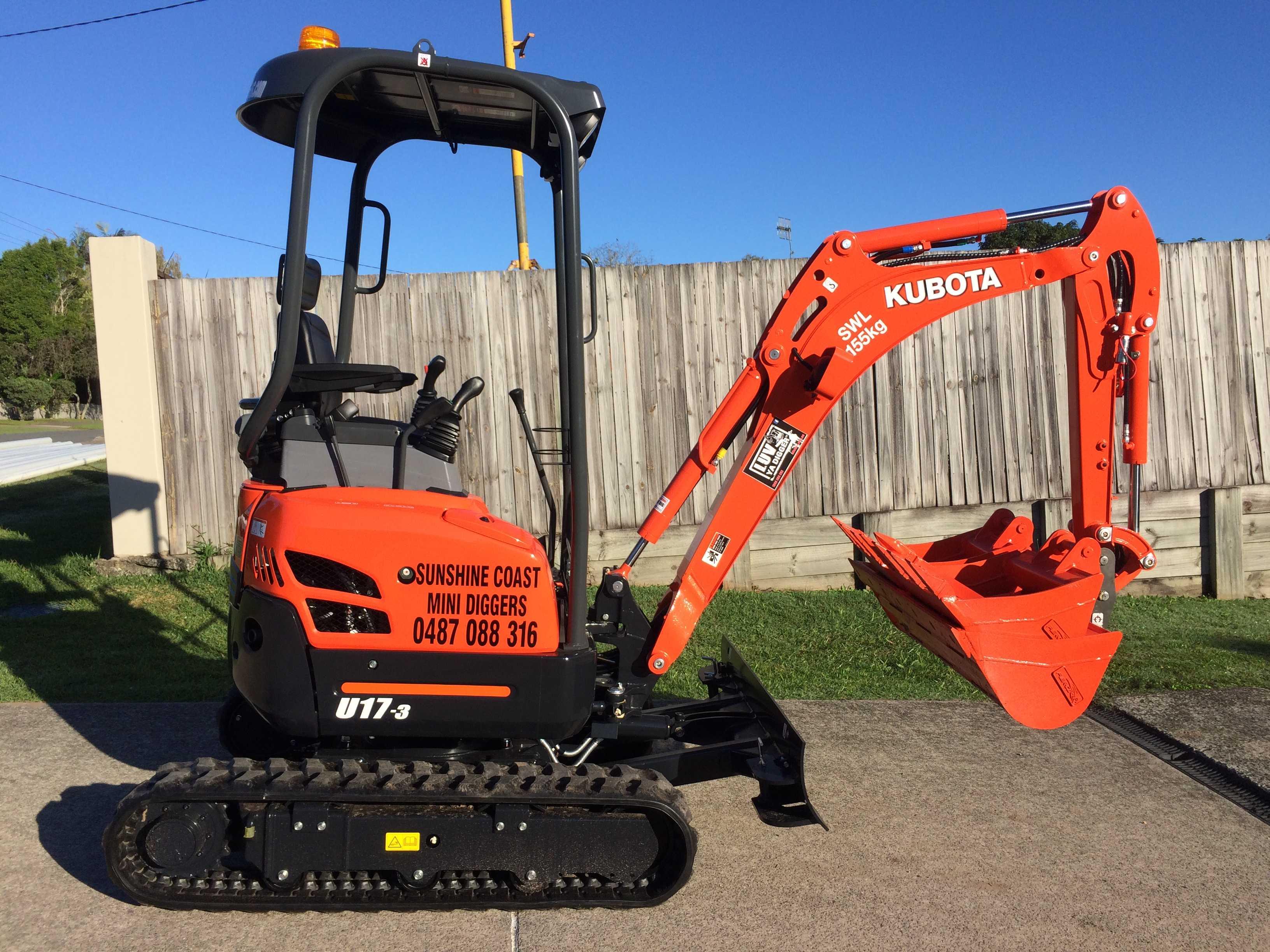 Hire 1.7T Tracked Excavator