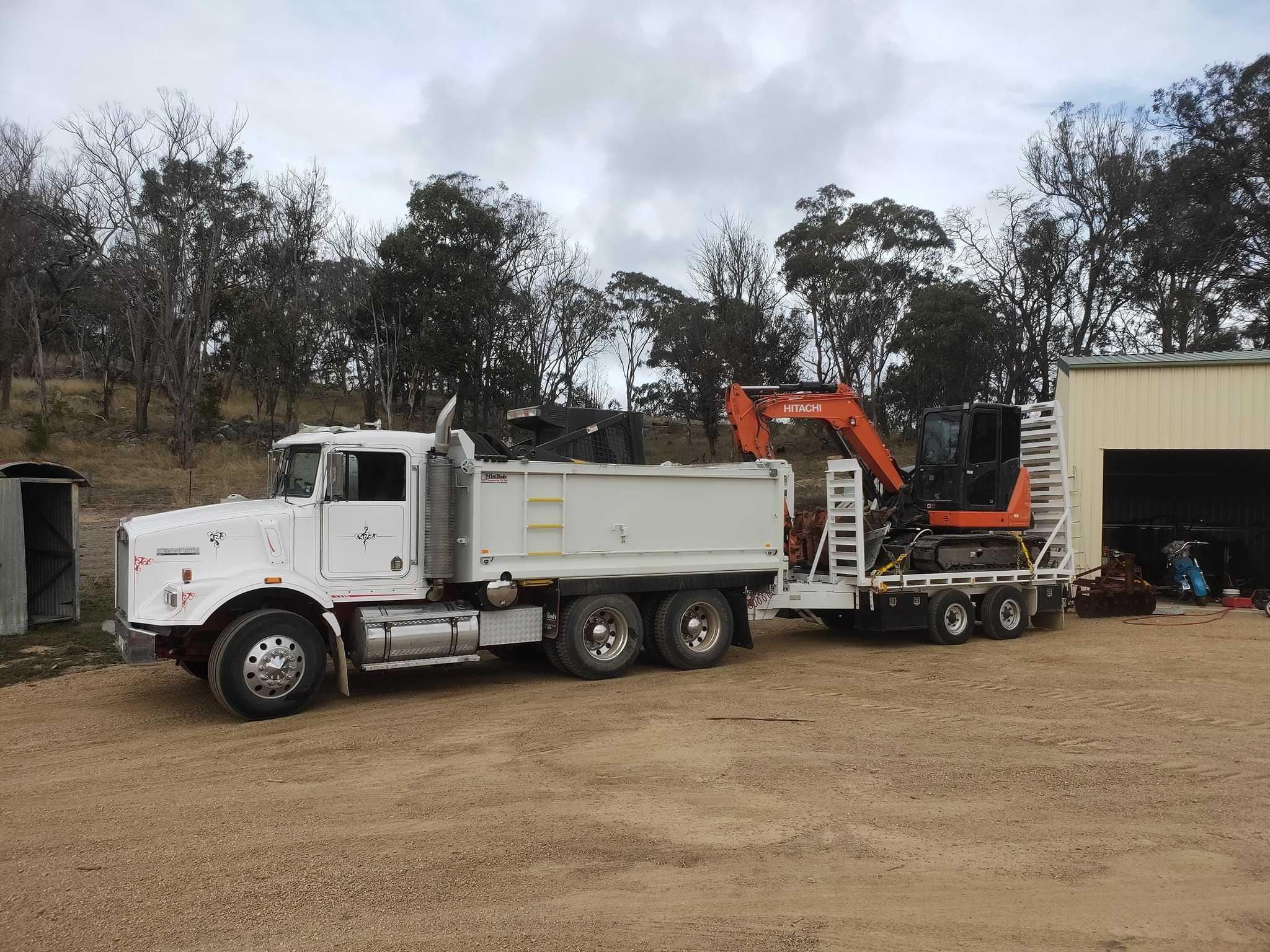 tipper truck for hire with operator near Dalveen