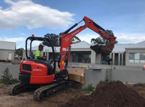 Hire Kubota 3.5T Excavator with standard bucket
