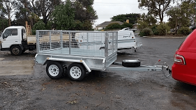 Hire Double Axle Caged Trailer