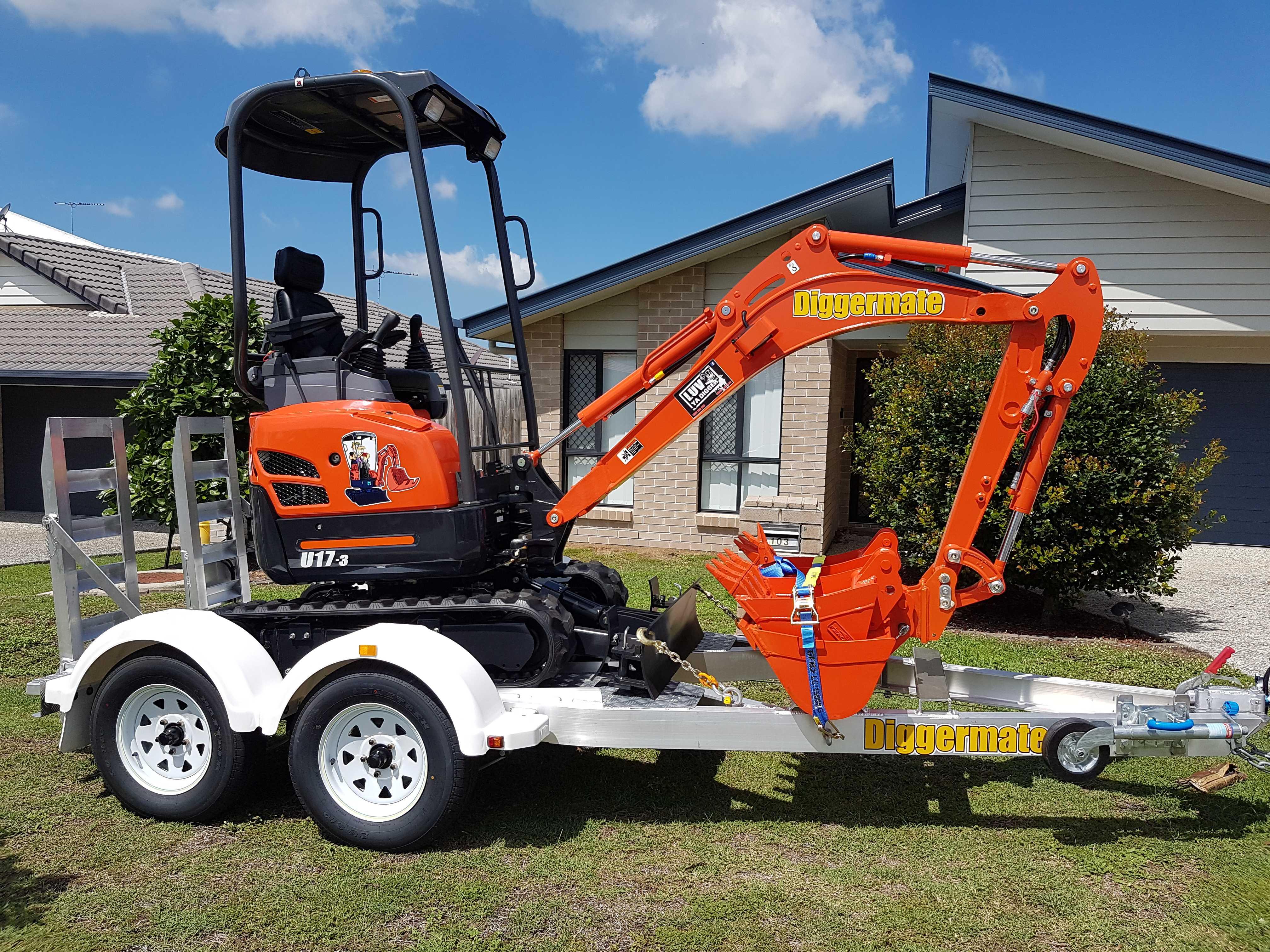 Mini Excavators, Micro Excavators, Mini Bobcats for hire.