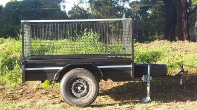 Hire 6x4 Caged Trailer