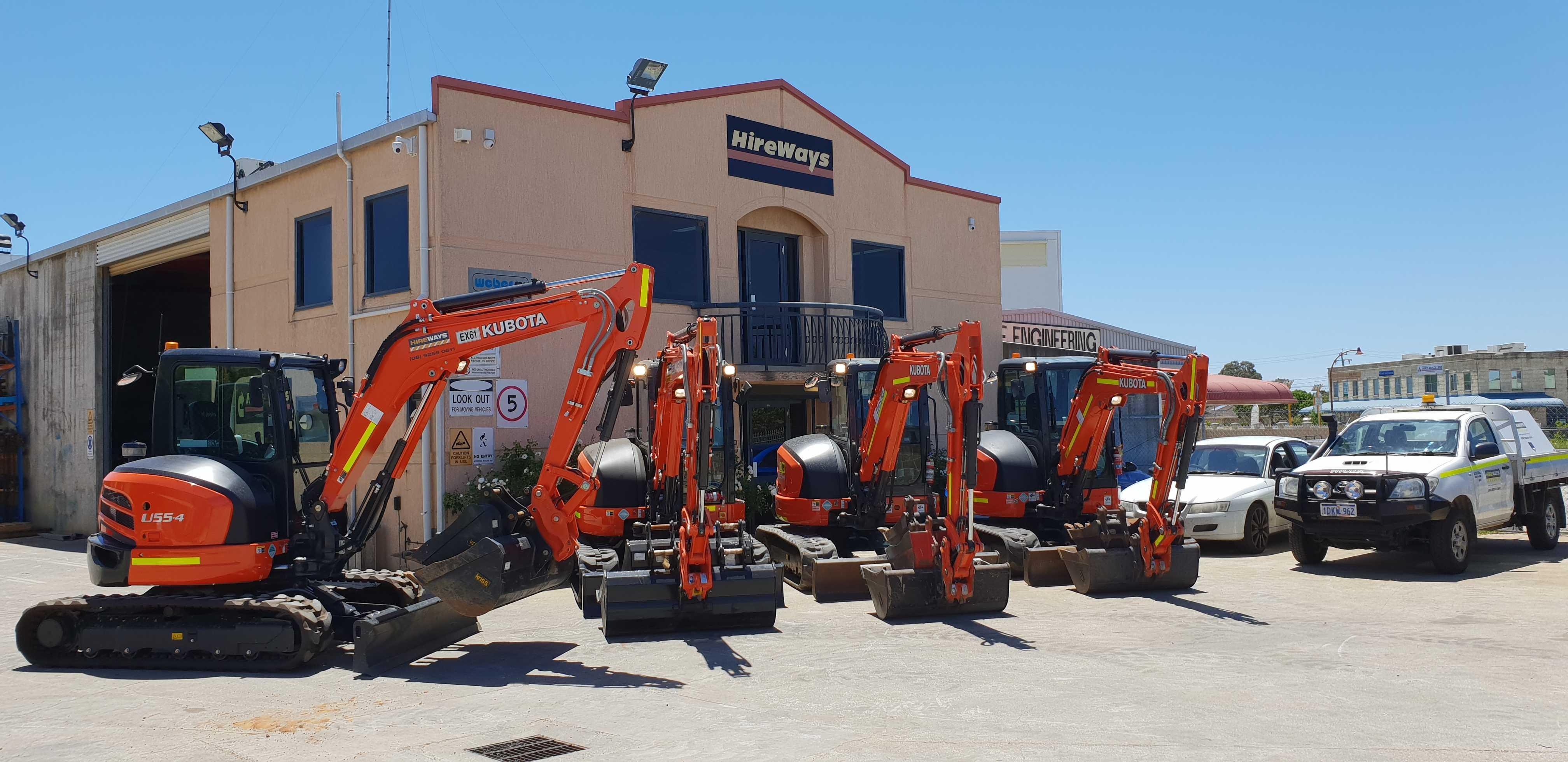 Hire 5.5 Ton Excavator.