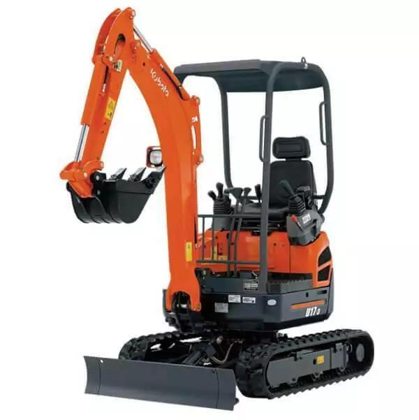 Hire 1.7T Excavator - Kubota U17