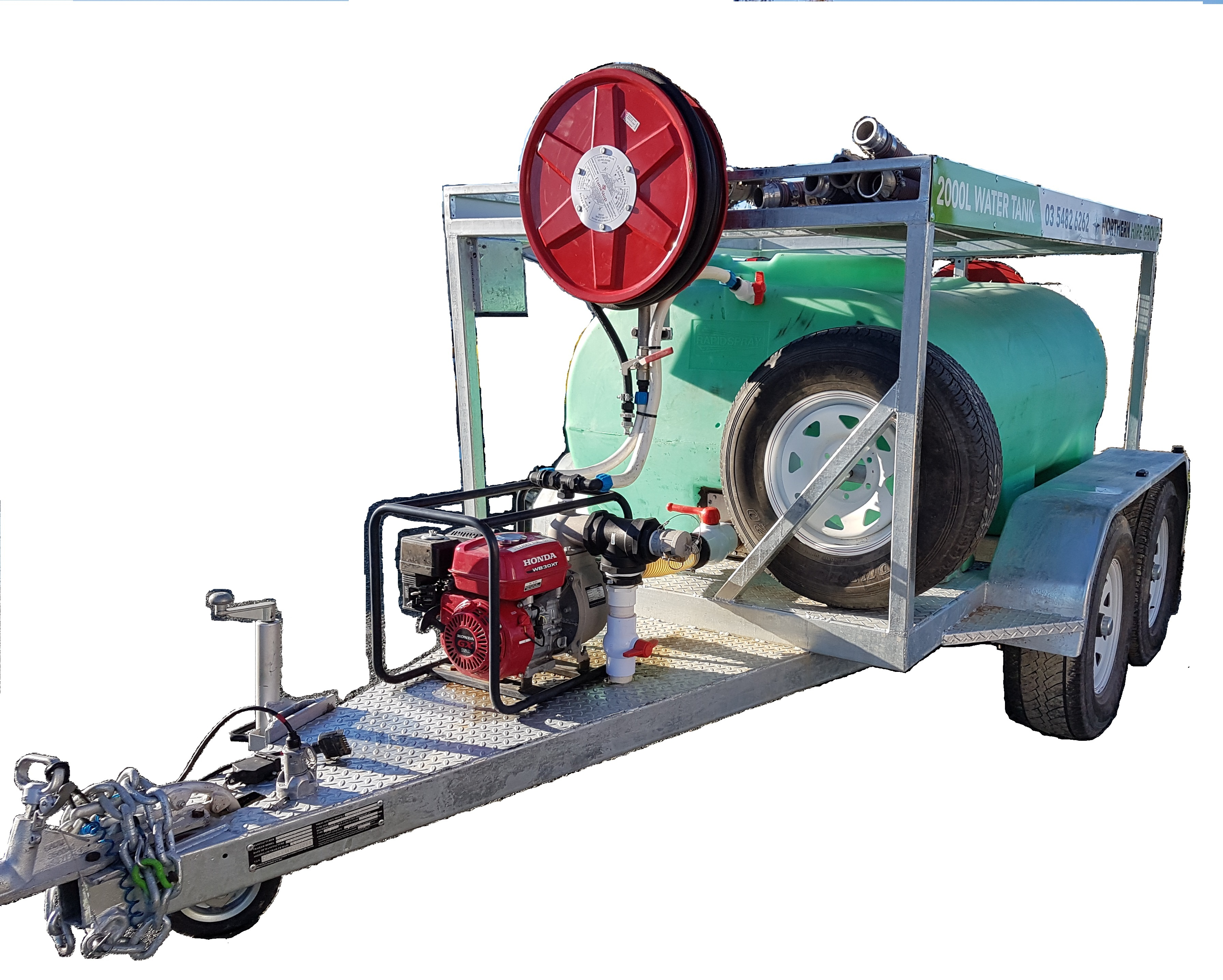 Hire Water Trailer - 2000L Tank & Pump