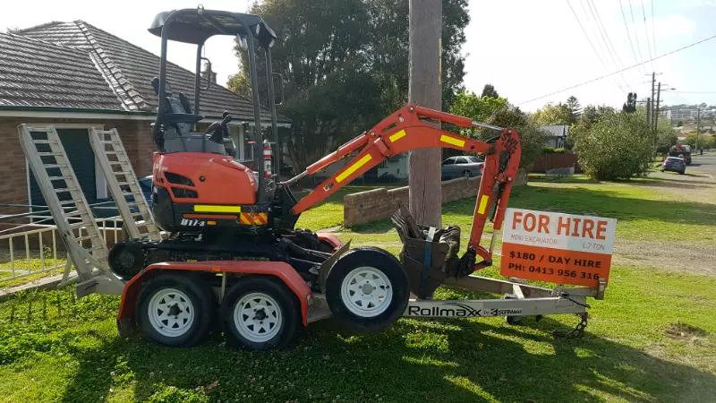 Hire 1.7Ton Excavator