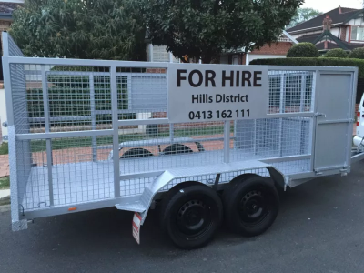 Hire Caged Trailer 12x6 with dual axle